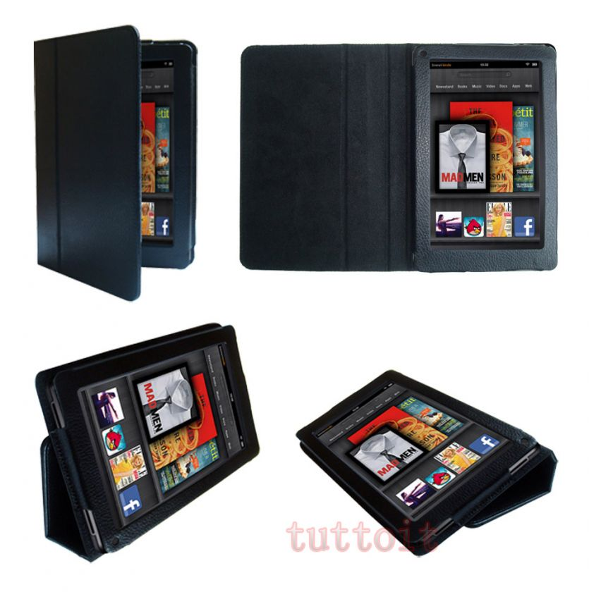 4IN1 for  7 Kindle Fire Leather Stand Case Cover+Protector+Pen