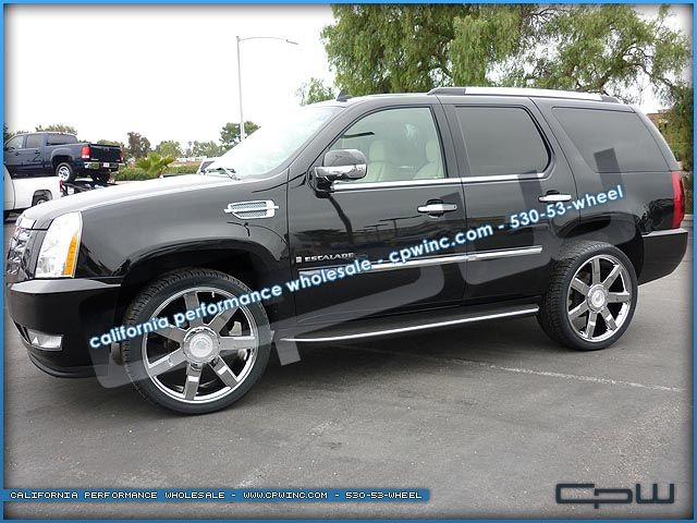ESCALADE EXT ESV 24 INCH CHROME WHEELS RIMS TIRES PACKAGE OEM STYLE