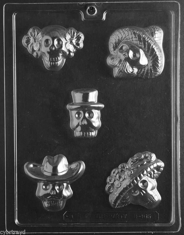 Dia Del Muertos Day Of The Dead Chocolate Candy Mold