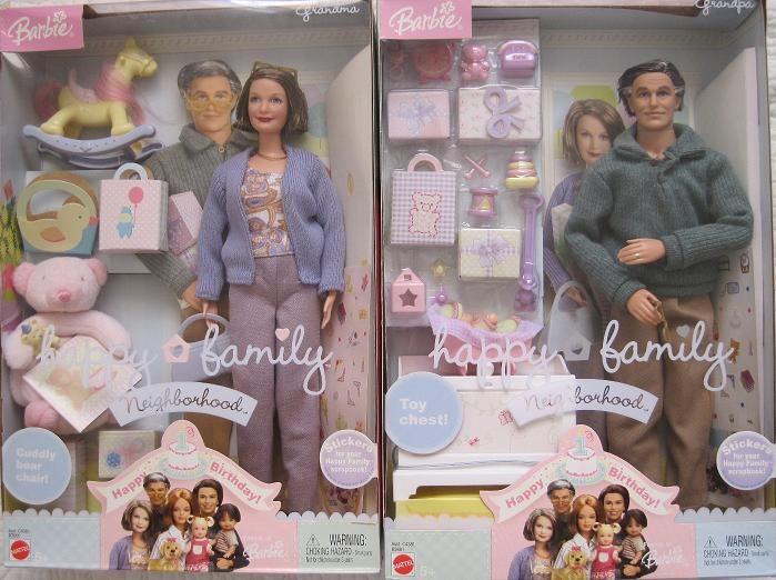 Barbie Happy Family Grandpa & GrandmaNew In The Box