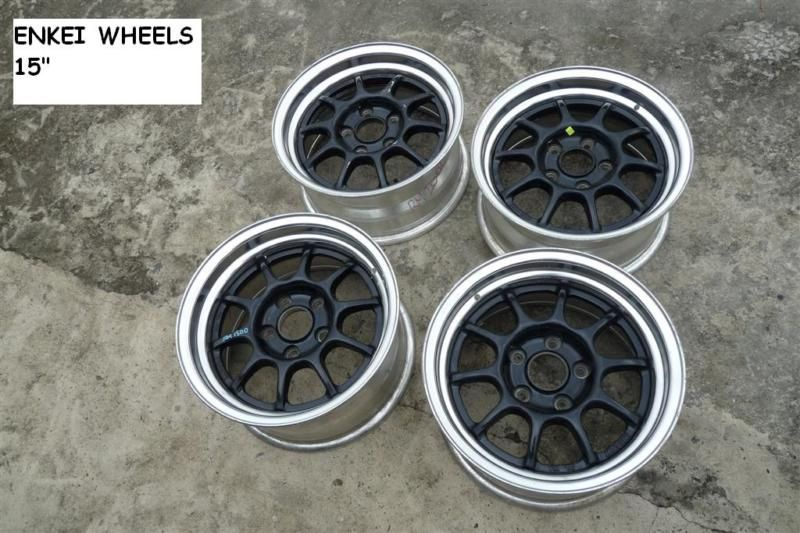 JDM Enkei Racing rims wheels 15 PCD114.3 ek9 dc2 s13