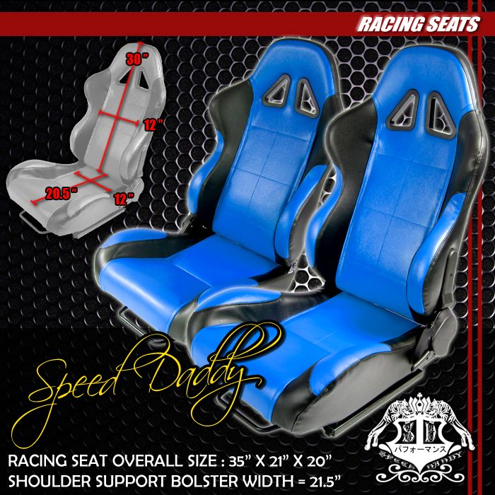 UNIVERSAL LIGHT WEIGHT FULLY RECLINABLE PVC LEATHER RACING SEATS