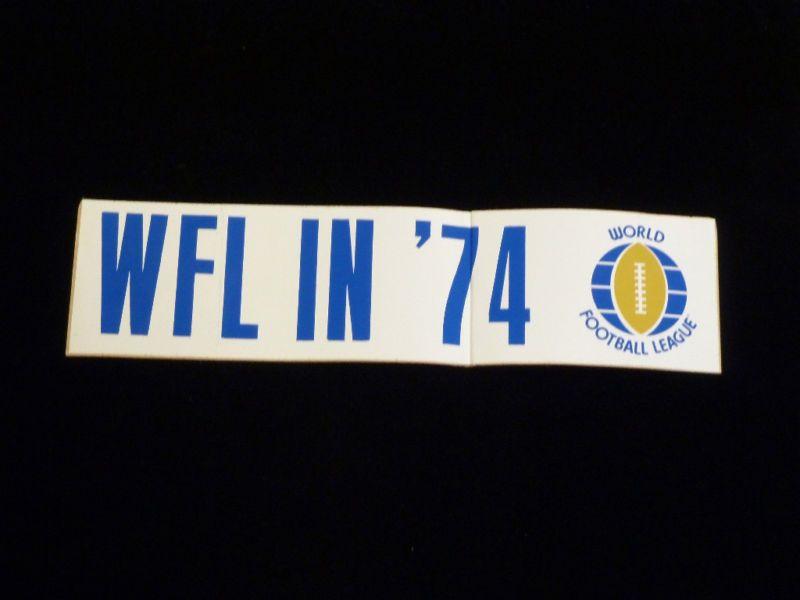WFL Logo STICKER DECAL   1974   1st First Year Vintage