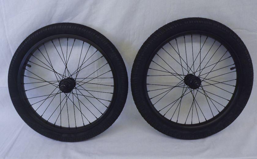 Description New Salt BMX Wheel Set Rims Wheels 9 tooth Black Anodized