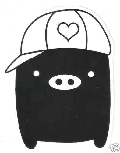 Monokuro Boo Vinyl Sticker Decal ~ San X Black Pig Cap