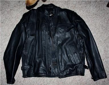 HARLEY DAVIDSON Black Leather Jacket Size XL **BRAND NEW**