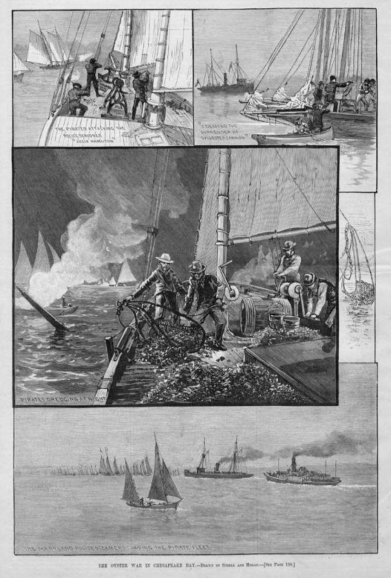 OYSTER WAR, CHESAPEAKE BAY, PIRATES, POLICE SCHOONER