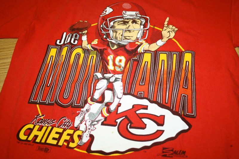 Vintage Joe Montana San Francisco 49ers Kansas City Chiefs T Shirt